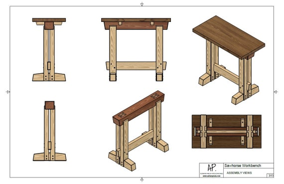 Miraculous Workbench Sawhorse Table Plans Dimensions Details Notes Squirreltailoven Fun Painted Chair Ideas Images Squirreltailovenorg