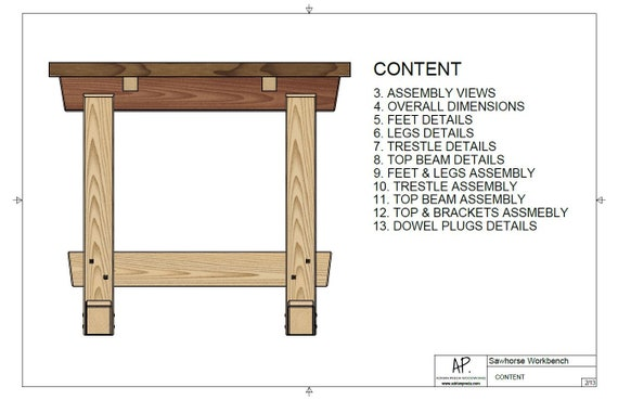 Astonishing Workbench Sawhorse Table Plans Dimensions Details Notes Squirreltailoven Fun Painted Chair Ideas Images Squirreltailovenorg