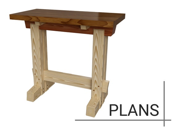 Pleasant Workbench Sawhorse Table Plans Dimensions Details Notes Squirreltailoven Fun Painted Chair Ideas Images Squirreltailovenorg