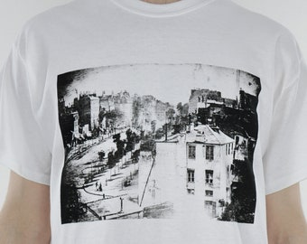 Daguerre 'First Photo of a Person' Tee