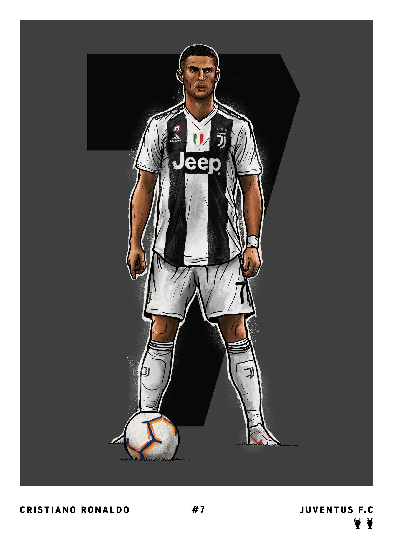Cristiano Ronaldo Juventus Etsy