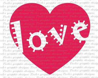 Love, Valentine day,  heart, Cutting file, SVG,DXF,EPS