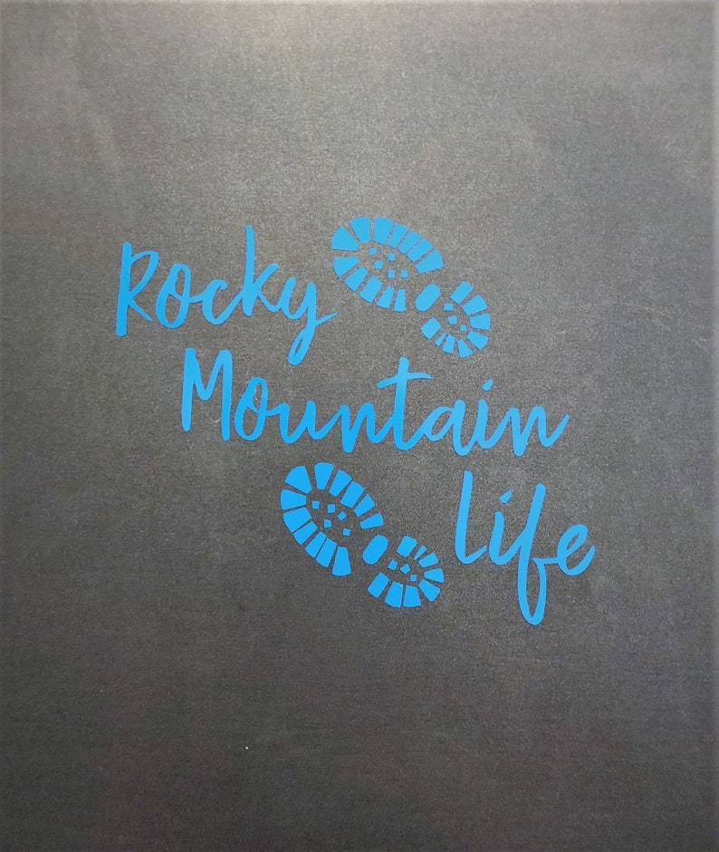 Ceramics Water Bottles Etc. Metal Cups Rocky Mountain Life Vinyl Decal For Laptops Cars