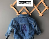 Epilepsy Awareness custom hand painted distressed denim - jackets and vests.