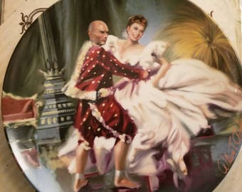 King and I- Shall We Dance: Edwin M. Knowles China Co. Plate
