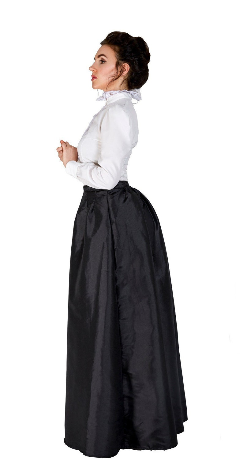 Victorian Dresses | Victorian Ballgowns | Victorian Clothing Victorian Walking Skirt and Blouse Set $38.99 AT vintagedancer.com