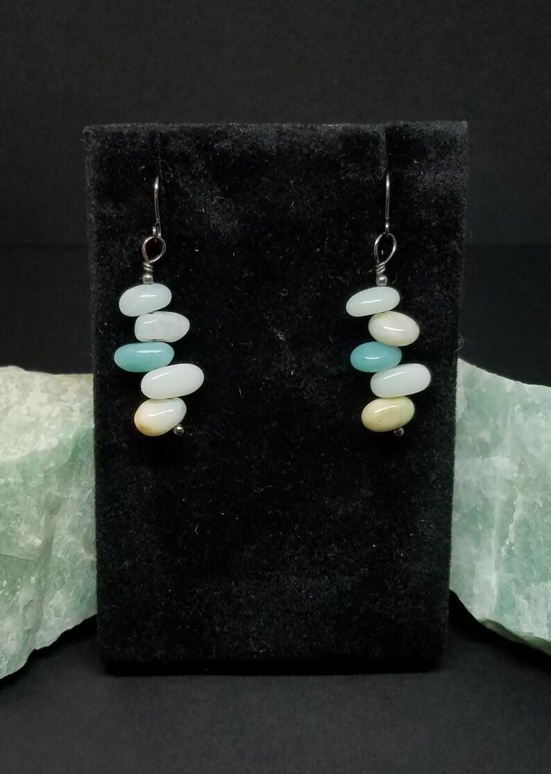 Amazonite Polished Pebble Earrings