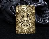 Armor Brass Zippo - Aztec Calendar - Double Sided