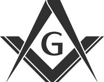 Masonic Square, G, & Compass