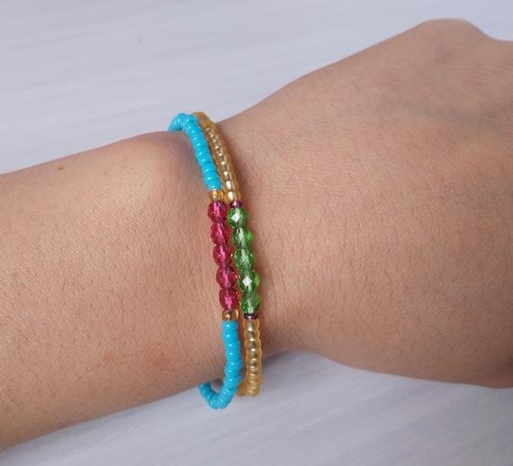Japanische Kristall Armband, Miyuki Armband, japanische Kristall Miyuki, Tschechische Kristall Armband, minimalistische Armband, feine Armband, Miyuki
