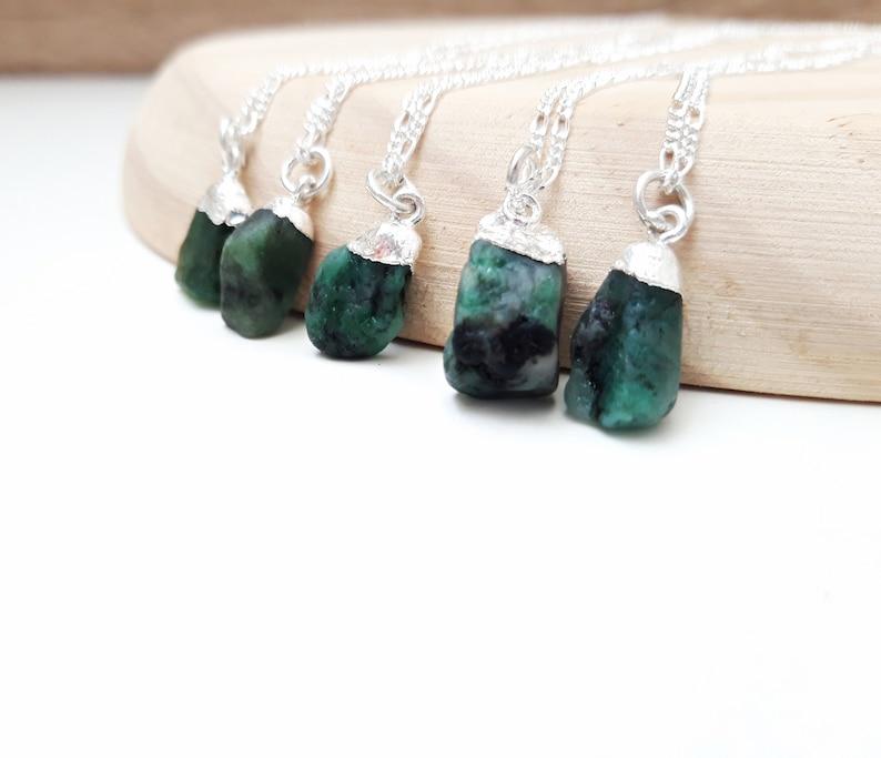 Brautschmuck Smaragd Halskette