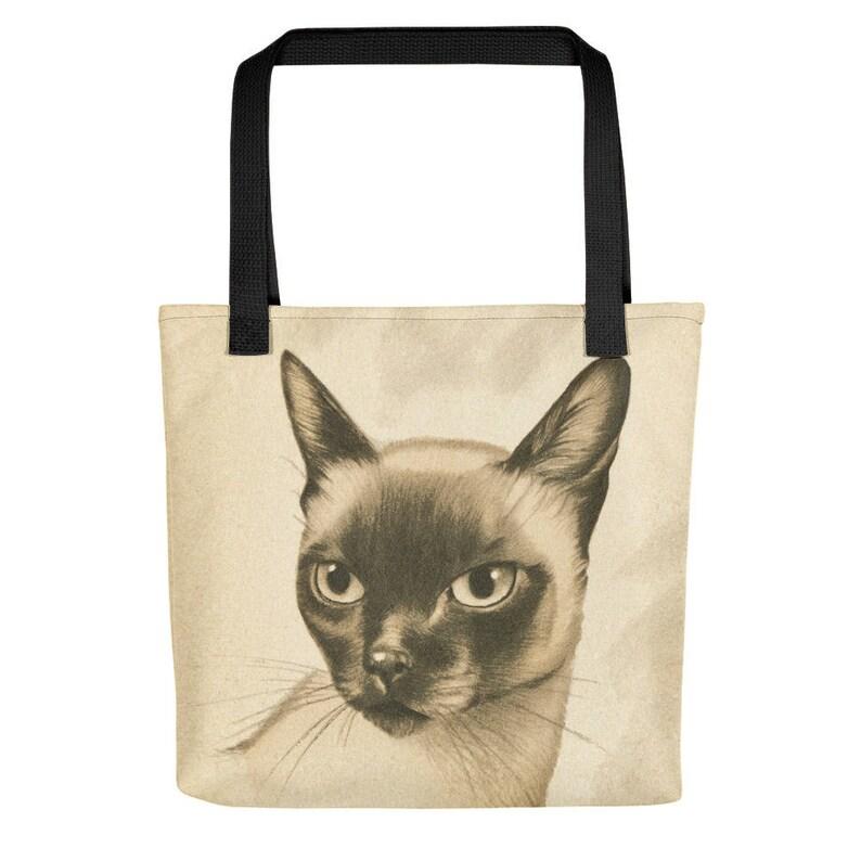 Vintage Siamese Cat Tote Bag