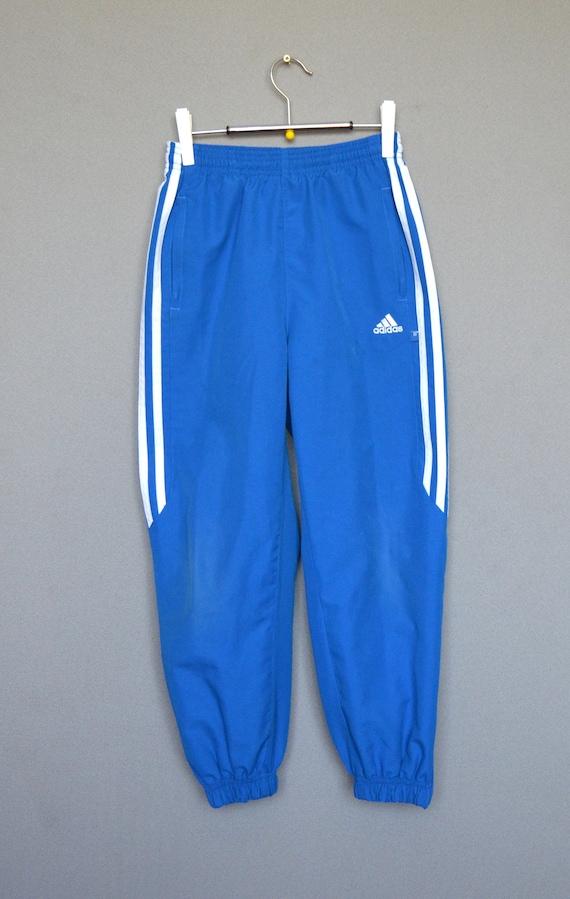 9a656a243383 Adidas Kids Pants Vintage Adidas Blue Track Pants Kids Blue