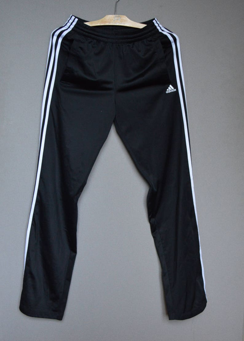 Adidas Pants Originals 90's Vintage Womens Tracksuit Pants Black White Athletic Wear Pants casual black white trousers