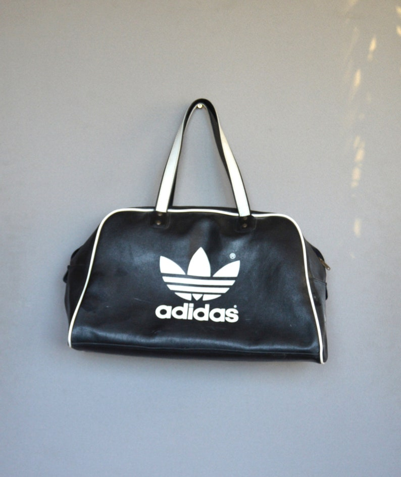 0c455af9 Large Adidas Bag Duffel Gym Bag Hipster Bag Large Black Big Logo ADIDAS  sport Bag Retro Sport Bag