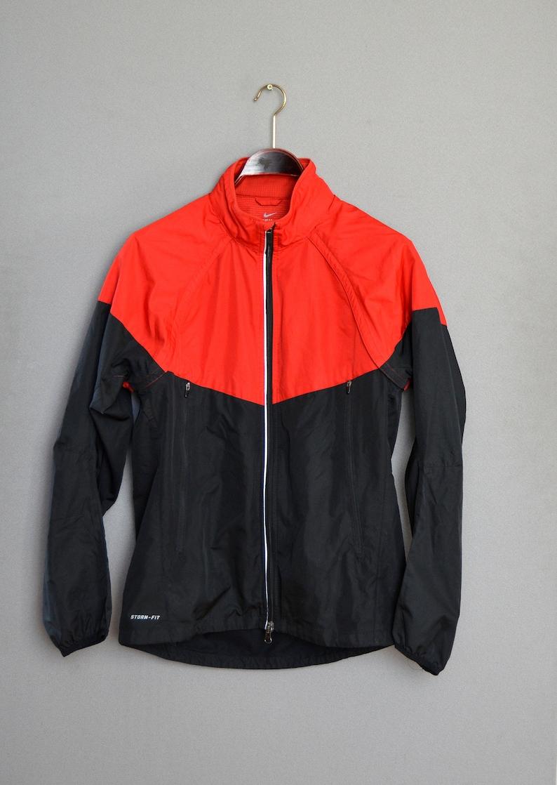094e02390376 Vintage 90s Nike Tracksuit Nike Red Black Windbreaker Zip up