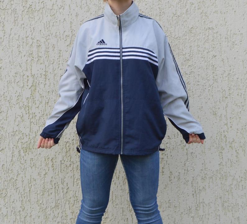 b2a40aa24413 Vintage Adidas Tracksuit Grey Blue Adidas Jacket Adidas