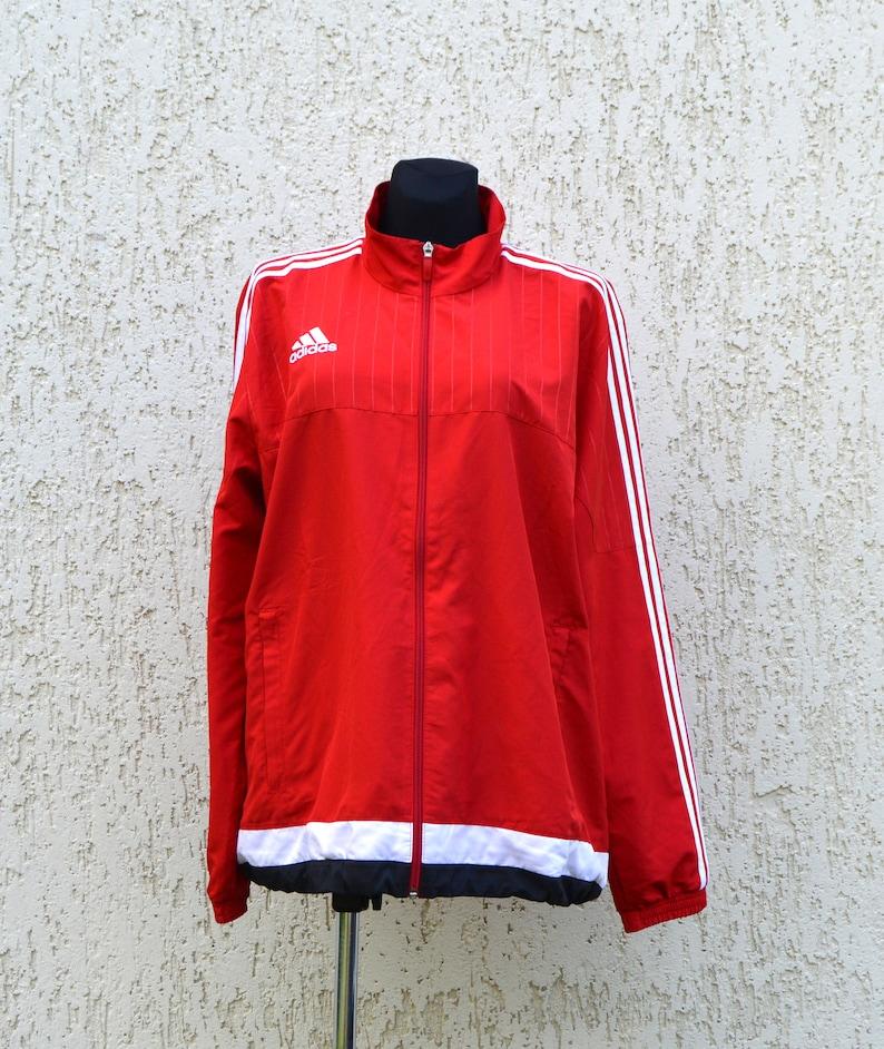 available online for sale fresh styles Rote Adidas Jacke Hip Hop Style Trainingsanzug Vintage ...