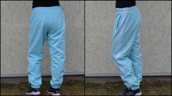 79e39bd6b8c5 Vintage Adidas Track Pants Light Blue Windbreaker Hip Hop
