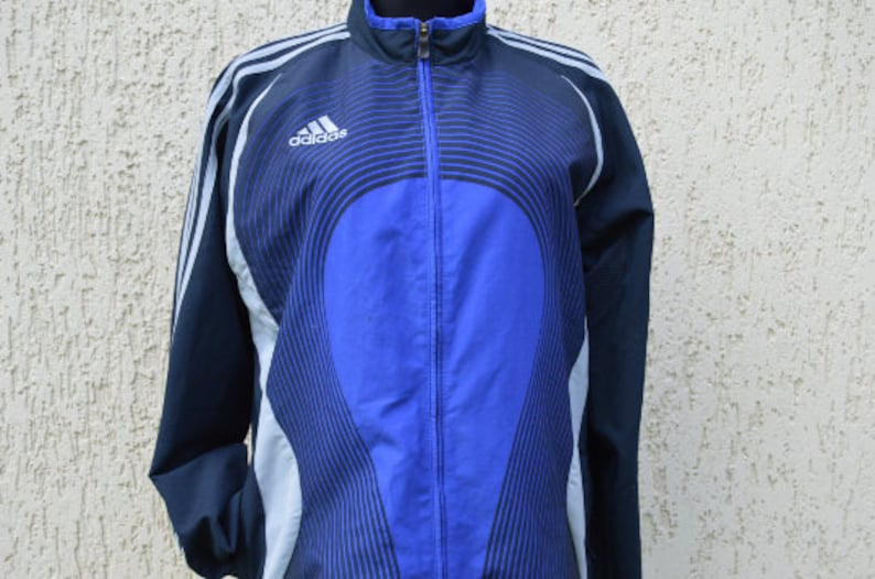 Vintage Adidas Windbreaker Adidas Jacket Adidas Retro Track Jacket Adidas Windbreaker Tracksuit Small Size