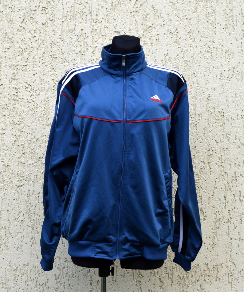 Vintage Adidas Mens Full Zip Track Jacket Size D 5 F 174