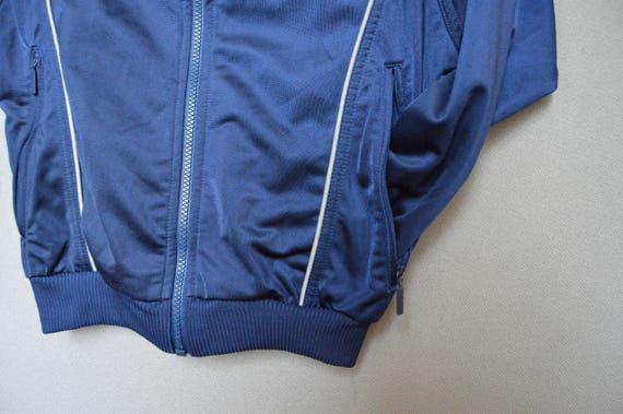 Vintage Pull Adidas Survêtement Vent Coupe Vieux Taille Années Rayures Bleu Veste Sport Légère 140 Kid 3 Des Zip 90 rCoedxWB