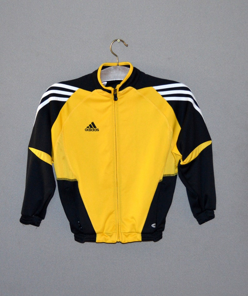 adidas yellow and black jacket