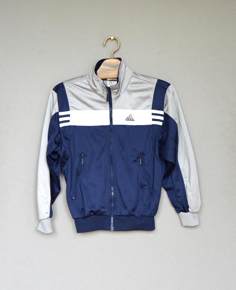 Adidas blau Sport Jacke Vintage Adidas Windbreaker Adidas