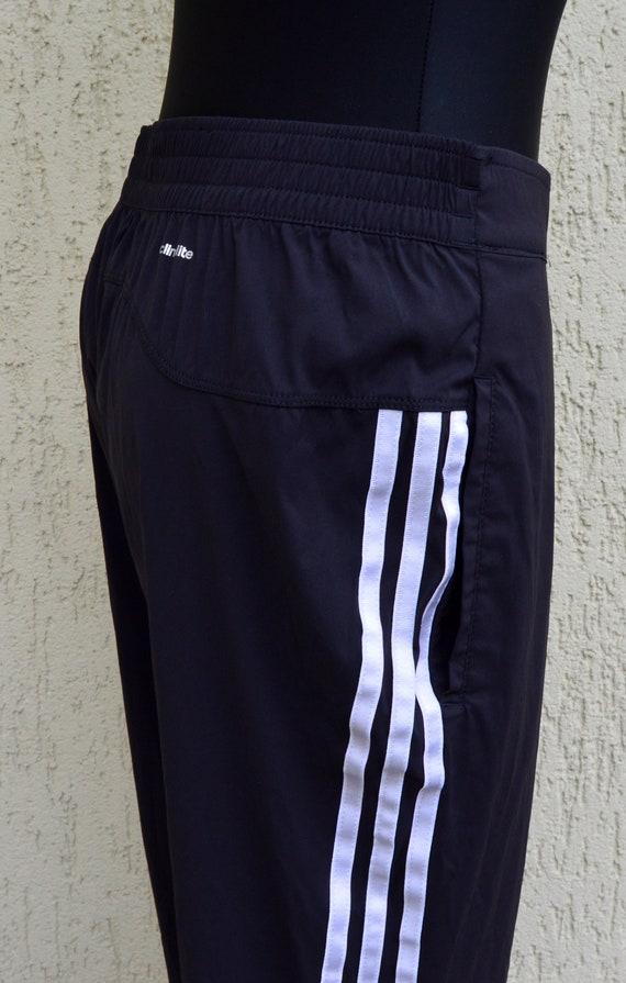 Adidas Pants Originals 90 es Vintage Womens Tracksuit Pants Black White Athletic Wear War Pants lässige schwarze weiße Hose
