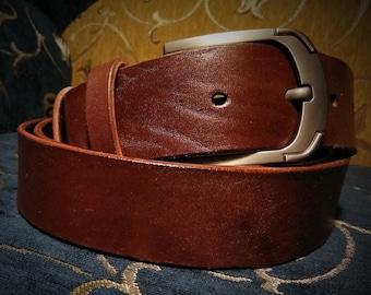 """Mens Leather Belt Men's Belt Distressed Thick Belt Brown Belt Leather Belt for men Full Grain Leather belt Handcrafted 1.5"""""""