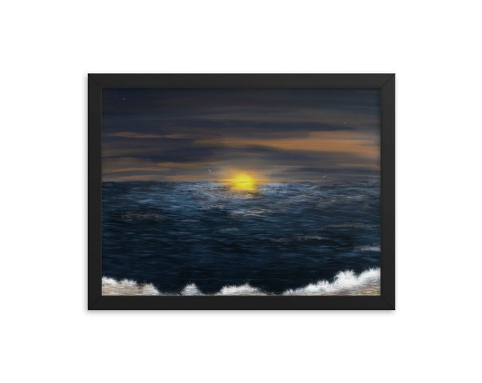 Framed poster - Sunset by the Beach