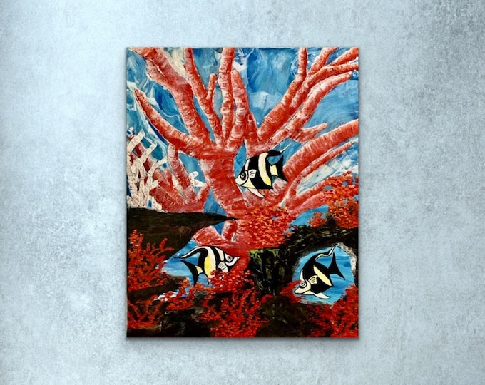 Coral Reef on Stretched Canvas
