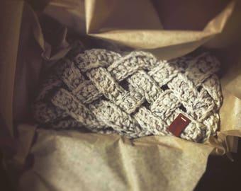 Adult Braided crochet headband