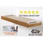 Medium Duty Floating Shelf Rod Bracket- Iron Rod Bracket - Patent Pending - Floating Shelve Bracket Shelves Wall Brackets Hardware Floating