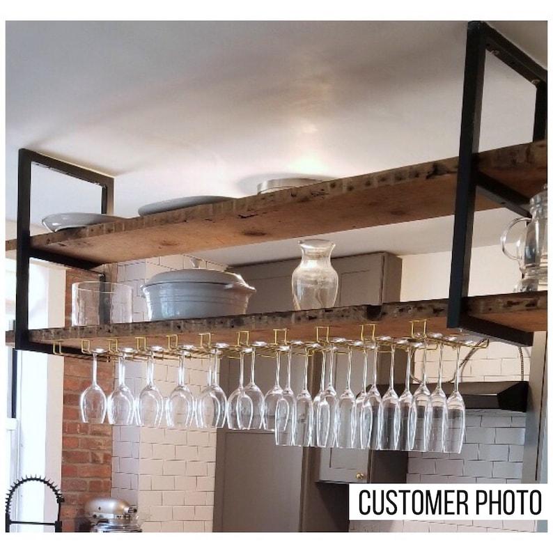 ceiling mounted floating shelf brackets etsy rh etsy com Ceiling Garage Storage Systems Ceiling Mounted Garage Storage