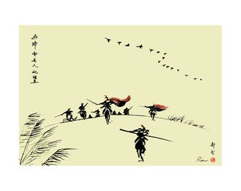 Chinese painting - jumper