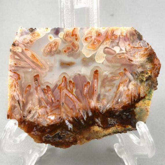 Turkish Ultra Rare Orange Stick Agate Slice