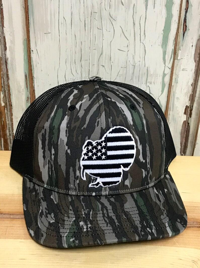 a25f2e33 USA Turkey Patch Trucker Hat Realtree Original/Black | Etsy