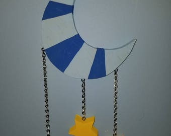 Moon and stars hanging toy