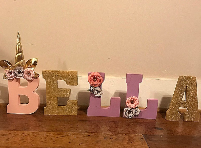 props birthday letters Unicorn Letters custom order centerpieces