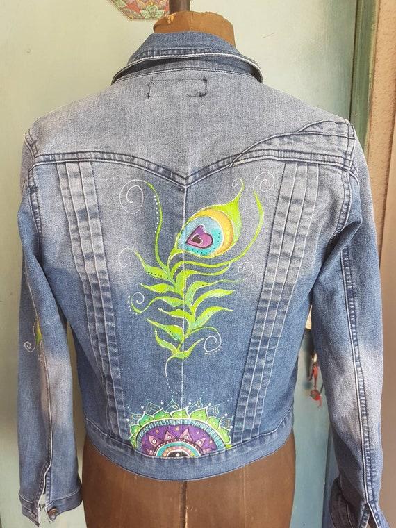 Denim Jacket Peacock