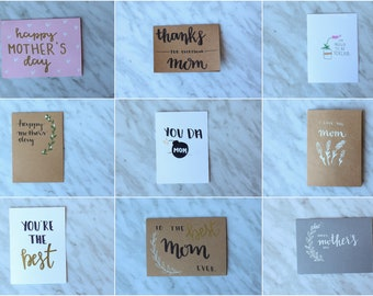 Hand Lettered Mother's Day Greeting Cards
