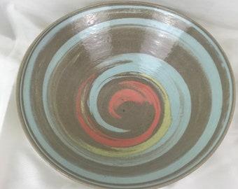 Colored Swirl Bowl