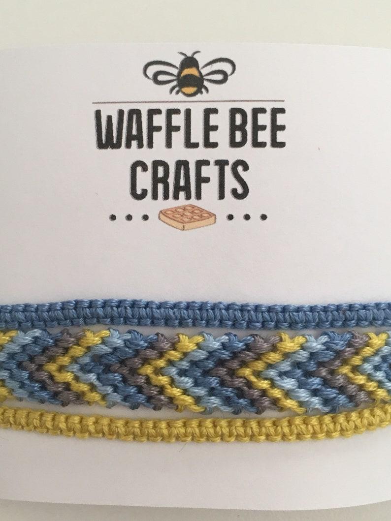 Blue /& Yellow Handmade Friendship Bracelets