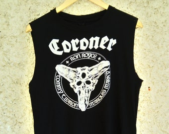 6499291ff Coroner - 1989 North American Tour shirt (Technical Thrash  Metal,Voivod,Mekong  Delta,Watchtower,Deathrow,Atheist,Sadus,Vektor,Annihilator)