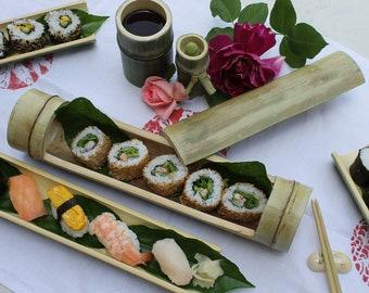 Sushi set in Bamboo.