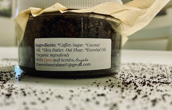 Black Velvet coffee sugar scrub