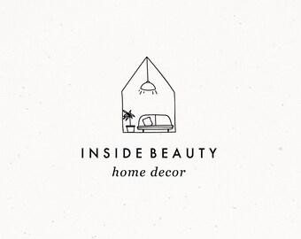 Home Decor Logo Design, Premade Interior Brand, Home Styling Blog Branding, Home Realtor Premade Logo, Interior Design Business Watermark