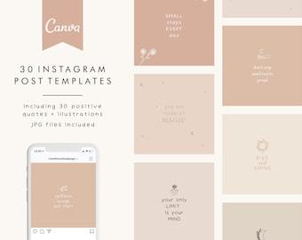 Instagram Post Templates, Social Media Templates Canva, Positive Quotes Post, Motivational Posts Instagram, Quotes for Instagram