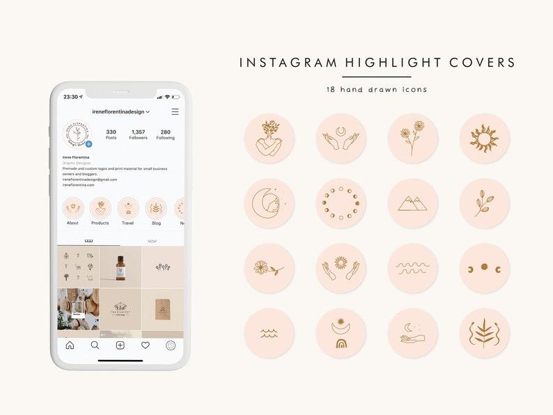 Highlight Cover Icons Boho Instagram Story Highlight Icons image 0